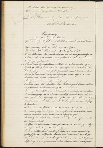 Teteringen - Notulen en bijlagen van de gemeenteraad 1914