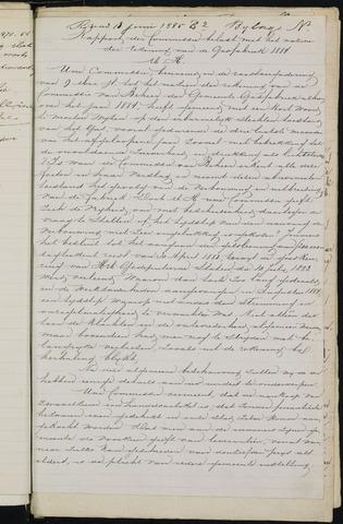 Breda - Bijlagen bij de notulen van de gemeenteraad 1885