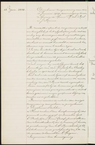 Princenhage - Notulen van de gemeenteraad 1919-01-01