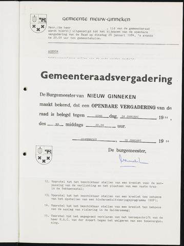 Nieuw-Ginneken - Notulen en bijlagen van de gemeenteraad 1984