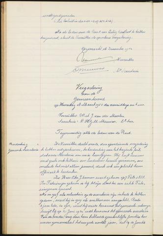 Teteringen - Notulen en bijlagen van de gemeenteraad 1953