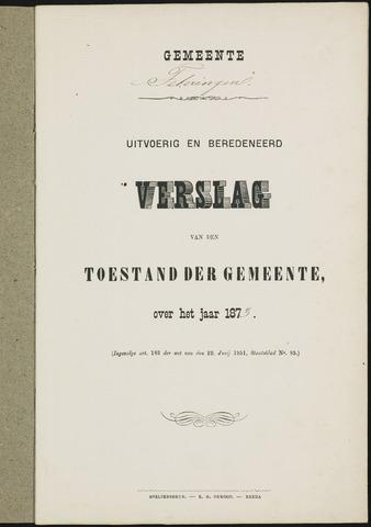Teteringen - Verslagen van de toestand van de gemeente 1873