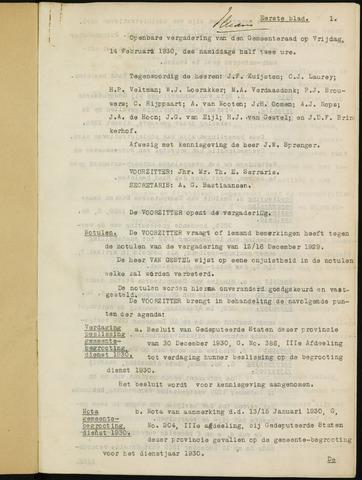 Ginneken en Bavel - Notulen van de gemeenteraad 1930-01-01