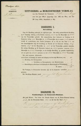 Princenhage - Verslagen van de toestand van de gemeente 1851