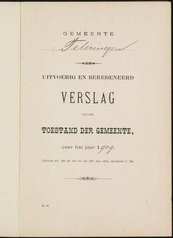 Teteringen - Verslagen van de toestand van de gemeente 1909
