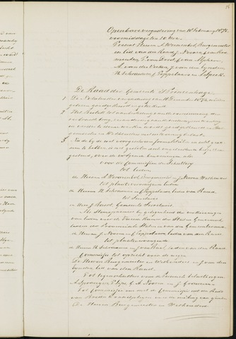 Princenhage - Notulen van de gemeenteraad 1875
