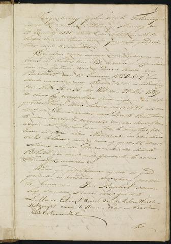 Teteringen - Notulen en bijlagen van de gemeenteraad 1821-01-01