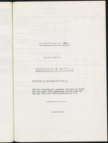 Ginneken en Bavel - Verslagen van de toestand van de gemeente 1893