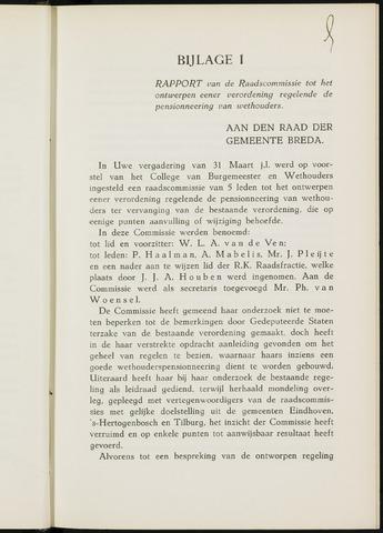 Breda - Bijlagen bij de notulen van de gemeenteraad 1933