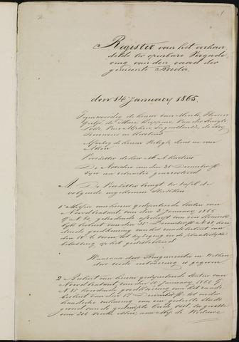Breda - Notulen van de gemeenteraad 1865-01-01