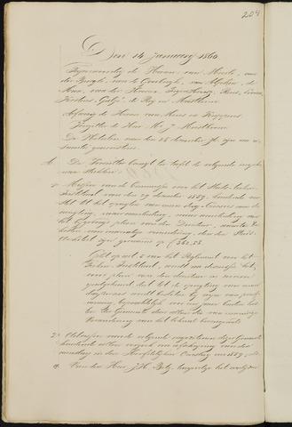 Breda - Notulen van de gemeenteraad 1860-01-01