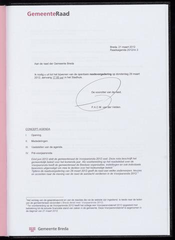 Breda - Bijlagen bij de notulen van de gemeenteraad 2012-03-29