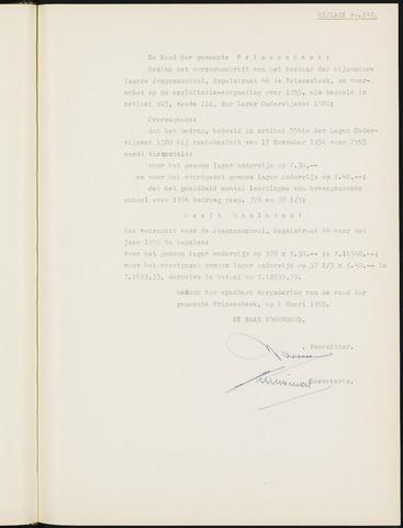 Prinsenbeek - Bijlagen bij de notulen van de gemeenteraad 1955