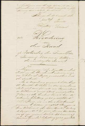 Teteringen - Notulen en bijlagen van de gemeenteraad 1861
