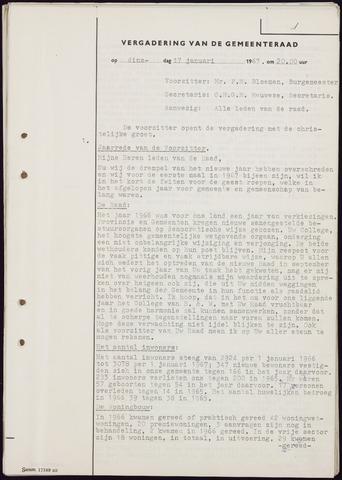Teteringen - Notulen en bijlagen van de gemeenteraad 1967