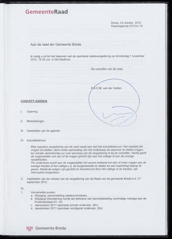 Breda - Bijlagen bij de notulen van de gemeenteraad 2012-11-01