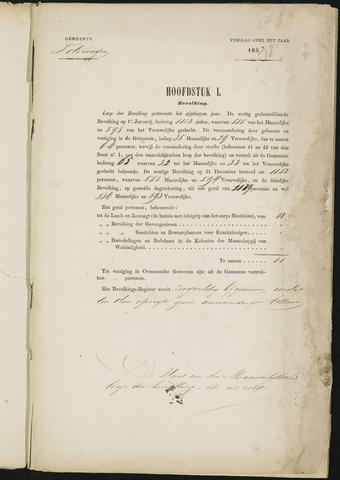 Teteringen - Verslagen van de toestand van de gemeente 1857-01-01