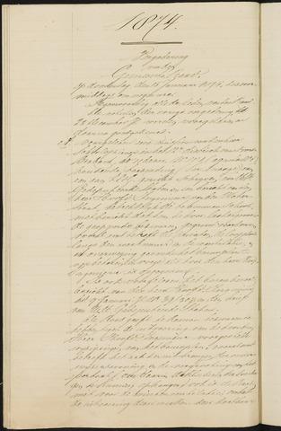 Teteringen - Notulen en bijlagen van de gemeenteraad 1874