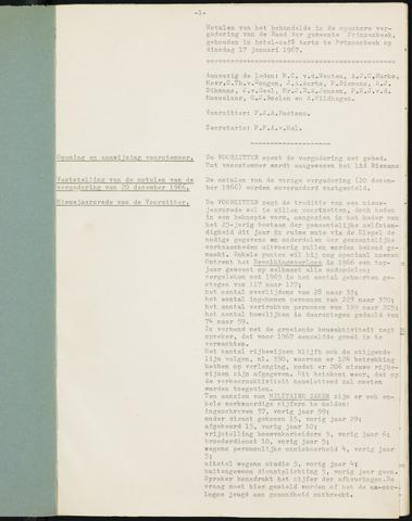 Prinsenbeek - Notulen van de gemeenteraad 1967