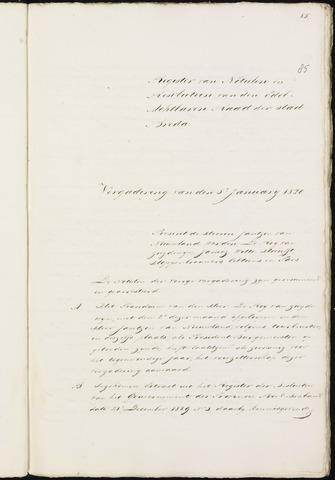 Breda - Notulen van de gemeenteraad 1820-01-01