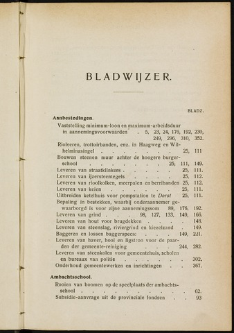 Breda - Indexen op de notulen van de gemeenteraad 1906