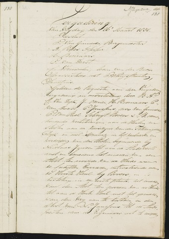 Teteringen - Notulen en bijlagen van de gemeenteraad 1830