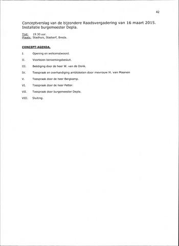 Breda - Notulen van de gemeenteraad 2015-03-16