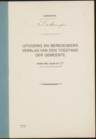 Teteringen - Verslagen van de toestand van de gemeente 1927-01-01