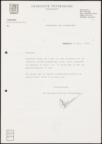 Teteringen - Notulen en bijlagen van de gemeenteraad 1975-04-22