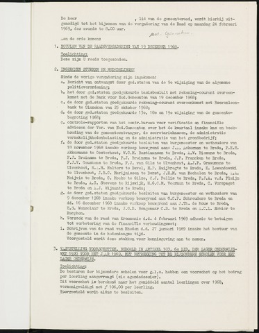 Nieuw-Ginneken - Notulen en bijlagen van de gemeenteraad 1969