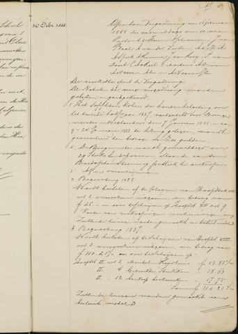 Princenhage - Notulen van de gemeenteraad 1888