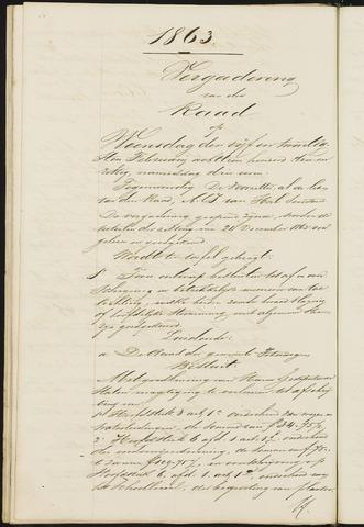 Teteringen - Notulen en bijlagen van de gemeenteraad 1863