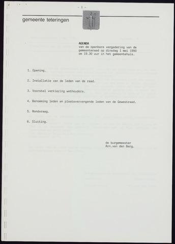 Teteringen - Notulen en bijlagen van de gemeenteraad 1990-05-01