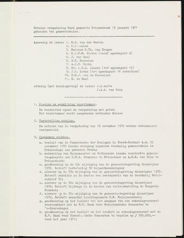 Prinsenbeek - Notulen van de gemeenteraad 1971
