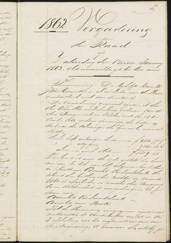 Teteringen - Notulen en bijlagen van de gemeenteraad 1862