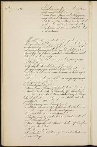 Princenhage - Notulen van de gemeenteraad 1902