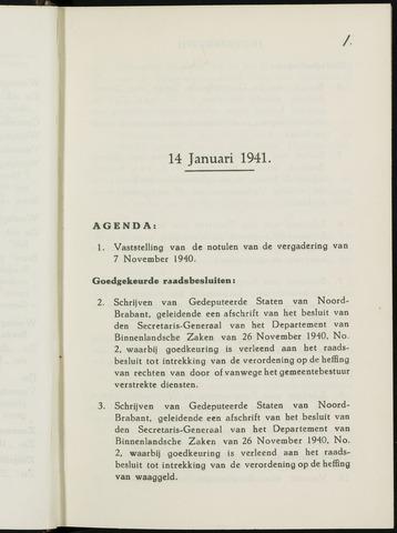 Breda - Notulen van de gemeenteraad 1941