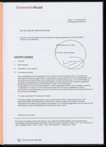 Breda - Bijlagen bij de notulen van de gemeenteraad 2009-02-19