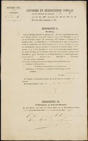 Princenhage - Verslagen van de toestand van de gemeente 1862