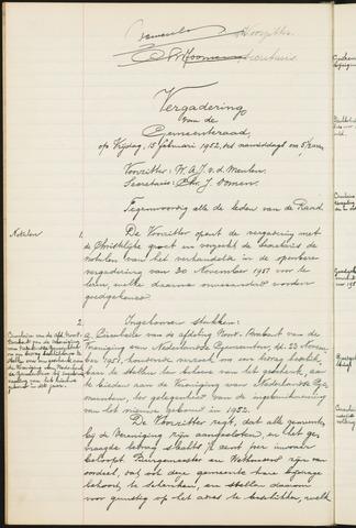 Teteringen - Notulen en bijlagen van de gemeenteraad 1952