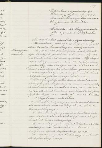 Princenhage - Notulen van de gemeenteraad 1939-01-01