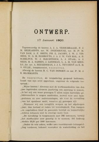 Breda - Notulen van de gemeenteraad 1903-01-01