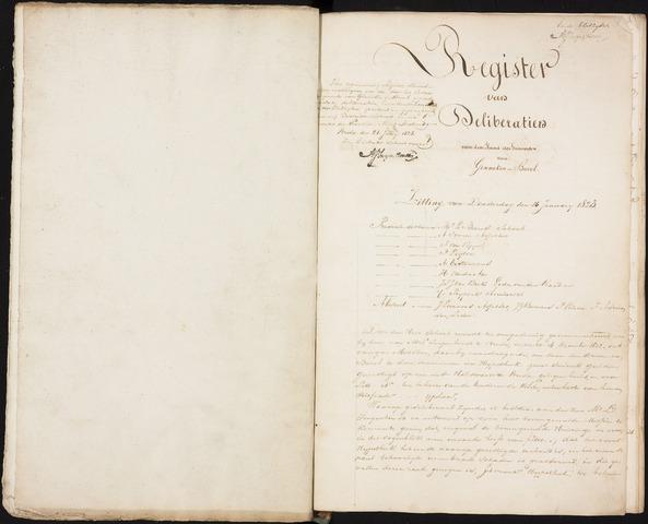 Ginneken en Bavel - Notulen van de gemeenteraad 1823-01-01