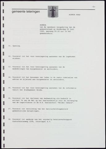 Teteringen - Notulen en bijlagen van de gemeenteraad 1995-06-29