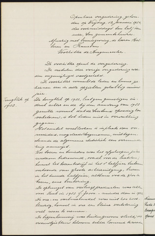 Princenhage - Notulen van de gemeenteraad 1934