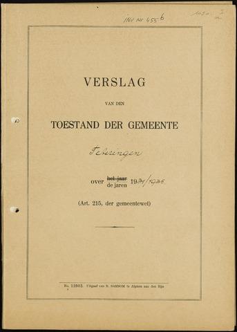 Teteringen - Verslagen van de toestand van de gemeente 1931