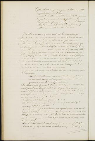 Princenhage - Notulen van de gemeenteraad 1878-01-01