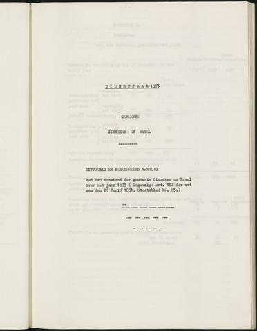 Ginneken en Bavel - Verslagen van de toestand van de gemeente 1873-01-01