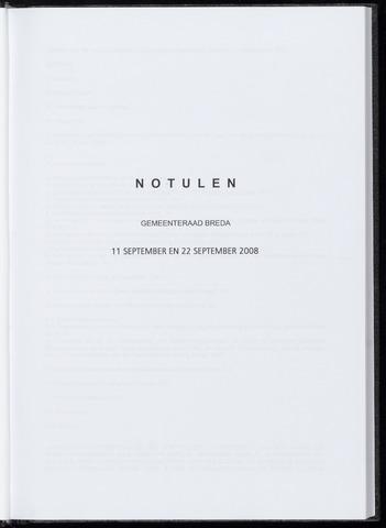 Breda - Notulen van de gemeenteraad 2008-09-11