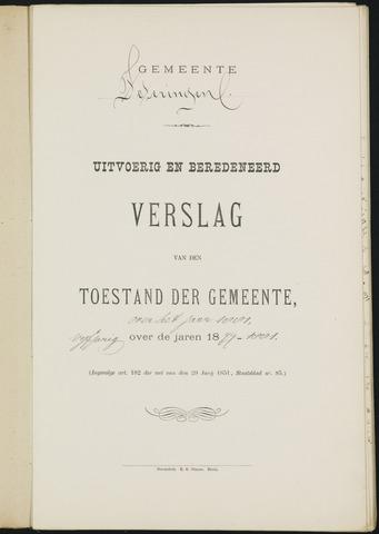 Teteringen - Verslagen van de toestand van de gemeente 1881